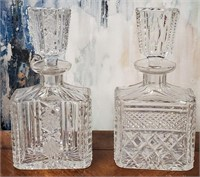 793 - LOT OF 2 BEAUTIFUL CRYSTAL DECANTERS