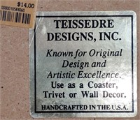 N - LOT OF 9 TEISSEDRE DESIGNS TILES - MANY USES