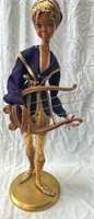 11 - VINTAGE LADY HARP PLAYER STATUE - SEE PICS