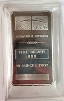 TEN OUNCES OF .999 FINE SILVER