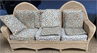 "792 - WICKER ""SOFA"" WITH CUSHIONS"