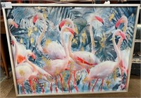 43 - NEW WMC FRAMED FLAMINGO ART ($149.95)
