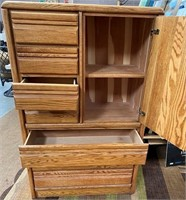 76 - SOLID WOOD DRESSER/ARMOIRE