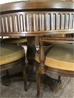 BEAUTIFUL DINING TABLE W/ 6 CHAIRS & CHINA HUTCH