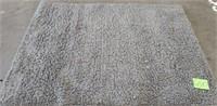 BEAUTIFUL GREY ULTRA SOFT SHAG 5 X 7 AREA RUG (G)