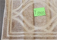 c - CREAM COLOR AREA RUG 8'X10' (Y)