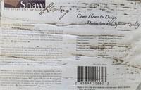 C - SHAW LIVING BEAUTIFUL 9 X 13 AREA RUG (W)