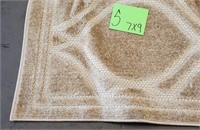 C - NEW SAFAVIEH TAN 7 X 9 AREA RUG (S)