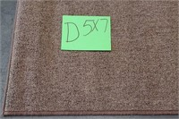 C - NEW MAINSTAY BROWN 5 X 7 AREA RUG (D)
