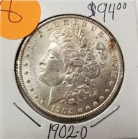 """1902 """"O"""" - MORGAN SILVER DOLLAR (8)"""
