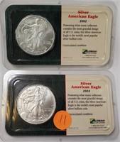 2002 & 2003 SILVER AMERICAN EAGLE DOLLARS (11)