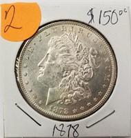 1878 - MORGAN SILVER DOLLAR (2)