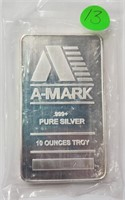 TEN TROY OUNCES OF .999 PURE SILVER (13)