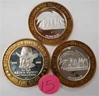 3 LIMITED EDITION .999 SILVER GAMING STRIKES (15)