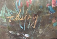 793 - BEAUTIFUL SIGNED/FRAMED LADY W/ CHERUBS