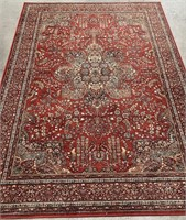 793 - COURISTAN RED AREA RUG 5 X 8