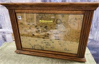793 - FRAMED WORLD CLOCK - SEE PICS FOR COND.