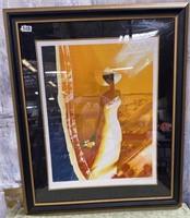 328 - SIGNED/MATTED/FRAMED BEAUTIFUL BRIDE ART