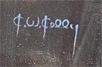 N - SIGNED/FRAMED SERPANT SLAYER WALL ART