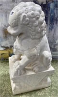 793 - SOLID MARBLE FOO DOG - SEE PICS FOR COND.