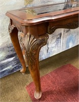 793 - BEAUTIFUL ENTRYWAY TABLE W/GLASS TOP