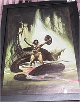 N - FRAMED SERPENT SLAYER WALL ART BY STOUT