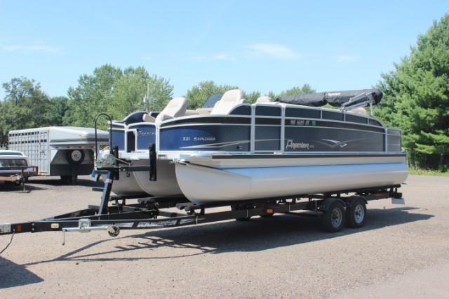"2013 Premier 23'-5"" pontoon w/trailer & motor"