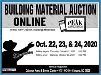 Charlotte October 2020 Peak Building Material Auction