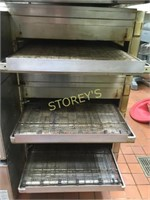"""Lincoln Triple Stacked 32"""" Gas Conveyor Pizza Oven"""