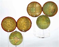 Rare pocket globes from the Gaunt estate
