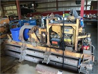 Auger Boring Machine with Rails
