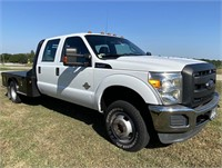 2012 FORD F350 4x4 FLATBED DUALLY