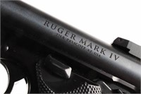 Gun Ruger Mark IV Target Semi Auto Pistol in 22 LR