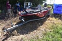 Boat w/ Mercury 850 motor, 17' 6 person