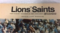 Lions vs Saints Tiger Stadium Nov 1968 Official