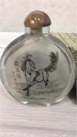 2002 Year of The Horse Snuff Bottle