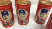 Detroit Tigers 1984 World Champions Coke Cans -
