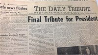 Assorted The Daily Tribune Newspapers '63
