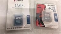 Pair of Kingston Memory Cards - NIP