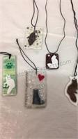 Handmade Cat Necklaces & Bookmarks/Decor