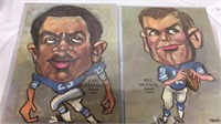 Pair of Detroit Lions Pictures by Tasco 16x12