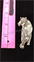 Silver Tone Tiger Pin