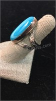 Turquoise Sterling Silver Ring Size 6