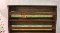 Vintage Three Mountaineers Spice Rack/Cabinet