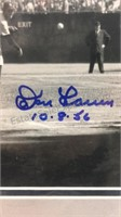 Don Larsen's Perfect Game Autographed Framed Art