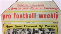 Vintage Pro Football Weekly Issue