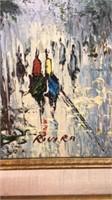 Framed Rivira Painting 19x23
