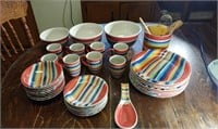 8  Place Setting Of Hand-painted Dishes