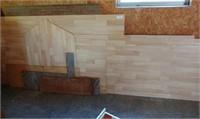 Wood Against Wall In Garage