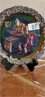 Figural clocks Carnival Glass, Lladro, Waterford & Furniture